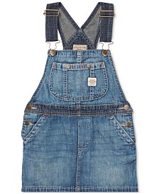 Polo Ralph Lauren Little Girls Denim Overall Dress