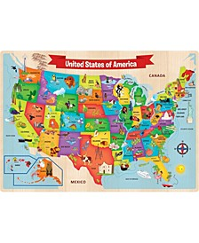 Masterpieces USA Wood Map Puzzle