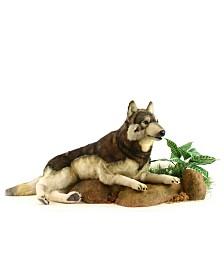 Hansa Timber Wolf Laying Plush Toy