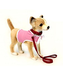 Hansa Chihuahua With Coat And Leash Plush Toy