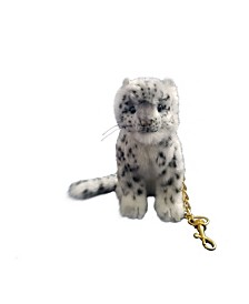 Hansa Snow Leopard Keychain Plush Toy