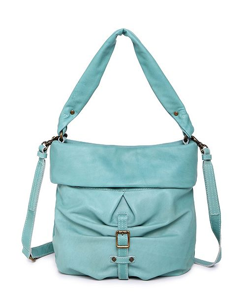 OLD TREND Sweet Lotus Leather Bucket Bag