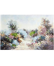 Pastel Wildflower Pathway Hand Painted Canvas