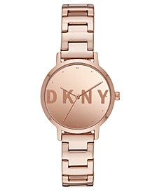 Women's Modernist Rose Gold-Tone Stainless Steel Bracelet Watch 32mm