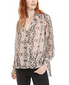 High-Low Printed Top, Created for Macy's