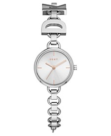 Women's Soho Logo Stainless Steel Chain Bracelet Watch 24mm