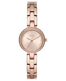 DKNY Women's City Link Rose Gold-Tone Stainless Steel Bracelet Watch 26mm