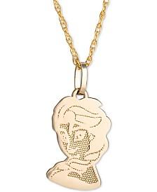 "Disney© Children's Frozen Elsa 15"" Pendant Necklace in 14k Gold"