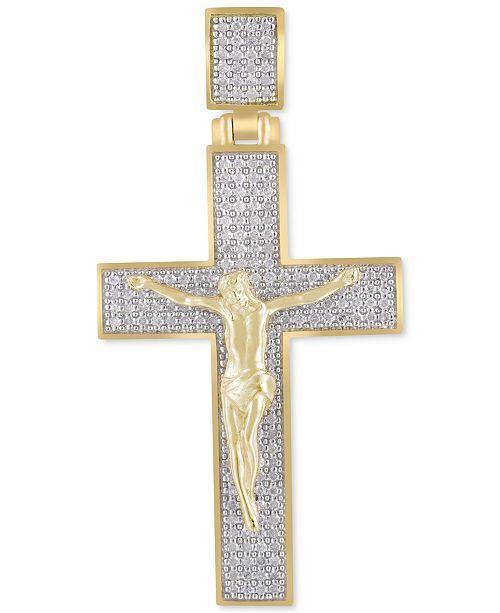 Macy's Men's Diamond Crucifix Pendant (5/8 ct. t.w.) in 10k Gold