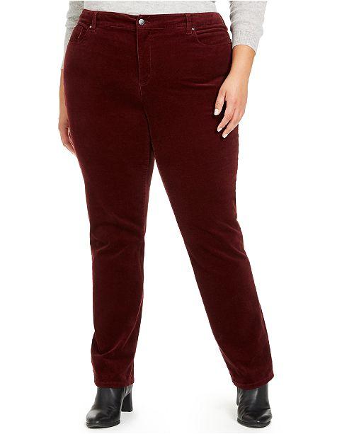 Charter Club Plus Size Lexington Tummy-Control Corduroy Jeans, Created for Macy's