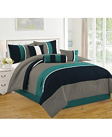 Luxlen Casares 7 Piece Comforter Set, Queen