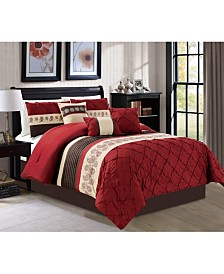 Luxlen Andree 7 Piece Comforter Set, Queen