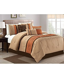 Luxlen Galloway 7 Piece Comforter Set, Queen