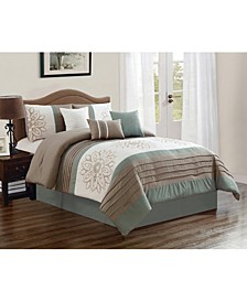 Lyman 7 Piece Comforter Set, Cal King