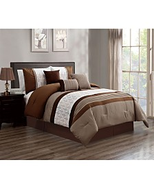 Luxlen Noonan 7 Piece Comforter Set, King