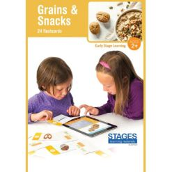 Stages Learning Materials Link4fun Grains Snacks Interactive Flashcard Set With Free iPad App