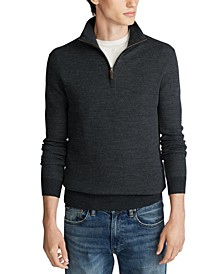 Men's Merino Wool Quarter-Zip Sweater