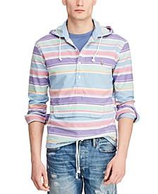 Men's Stripe Drawstring Hoodie
