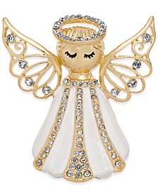 Gold-Tone Crystal Angel Pin, Created for Macy's