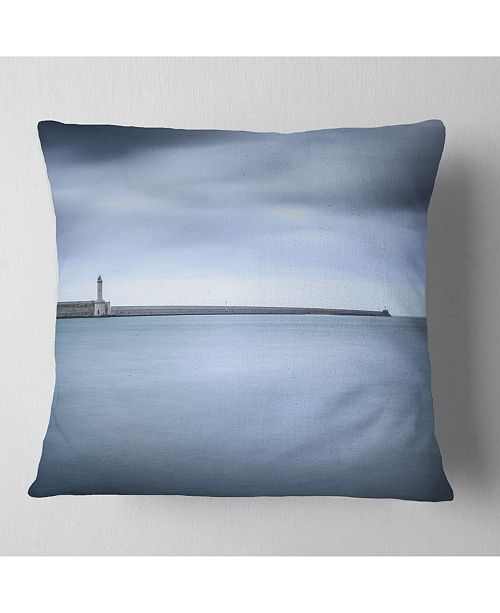 Design Art Designart Breakwater And Soft Water Under Clouds Landscape Wall Throw Pillow 26 X 26 Reviews Decorative Throw Pillows Bed Bath Macy S
