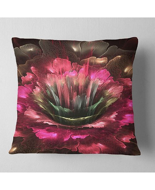 Design Art Designart Perfect Fractal Flower In Bright Red Floral Throw Pillow 26 X 26 Reviews Decorative Throw Pillows Bed Bath Macy S