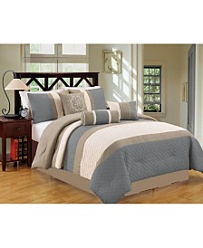 Luxlen Petersburgh 7 Piece Comforter Set, Queen