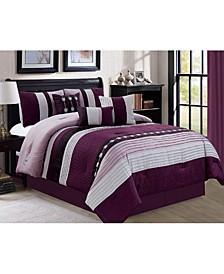 Broadwell 7 Piece Comforter Set, Queen