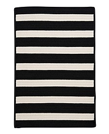 Stripe It Black White 2' x 4' Accent Rug