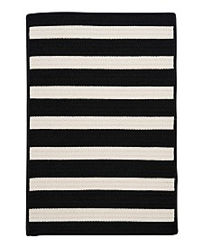 Colonial Mills Stripe It Black White 2' x 4' Accent Rug
