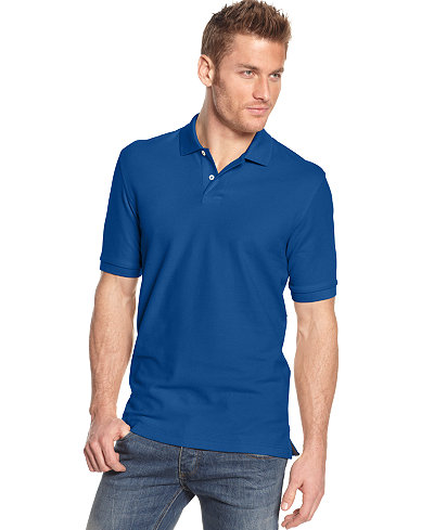 Club Room Solid Estate Performance Polo, Created for Macy's