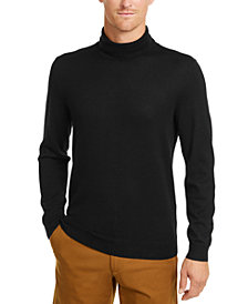 Club Room Men's Merino Wool Blend Turtleneck Sweater, Created for Macy's