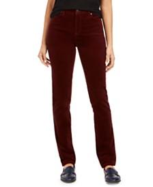 Charter Club Petite Lexington Tummy-Control Corduroy Pants, Created For Macy's