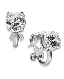 Danori Cubic Zirconia Clip-On Stud Earrings, Created For Macy's