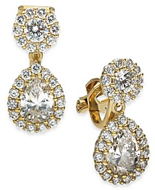Danori Cubic Zirconia Clip-On Teardrop Earrings, Created For Macy's