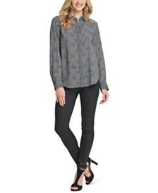 DKNY Glen Plaid Shirt