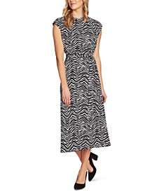 Zebra Peaks Printed Dress