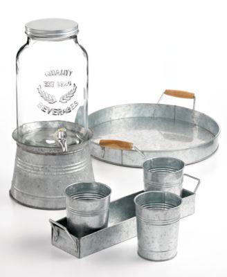 Masonware Galvanized Tin Carry All Caddy