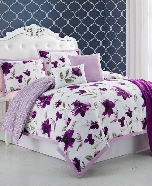 Cathay Home Inc. Ellen Tracy Monterrey 6-Piece Queen Comforter Set