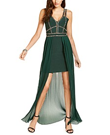 Beaded High-Low Bandage Gown