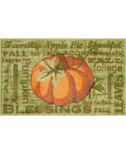 """Nourison Green Pumpkin 18"""" x 30"""" Accent Rug"""