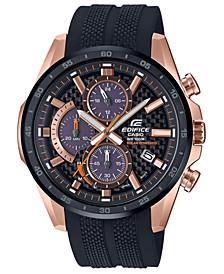 Men's Solar Black Resin Strap Watch 47.6mm