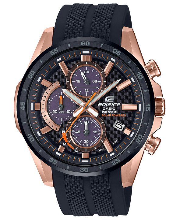 G-Shock Men's Solar Black Resin Strap Watch 47.6mm