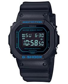Men's Digital Black Resin Strap Watch 42.8mm