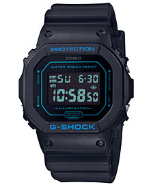G-Shock Men's Digital Black Resin Strap Watch 42.8mm