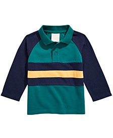 Baby Boys Cotton Colorblocked Polo Shirt, Created for Macy's