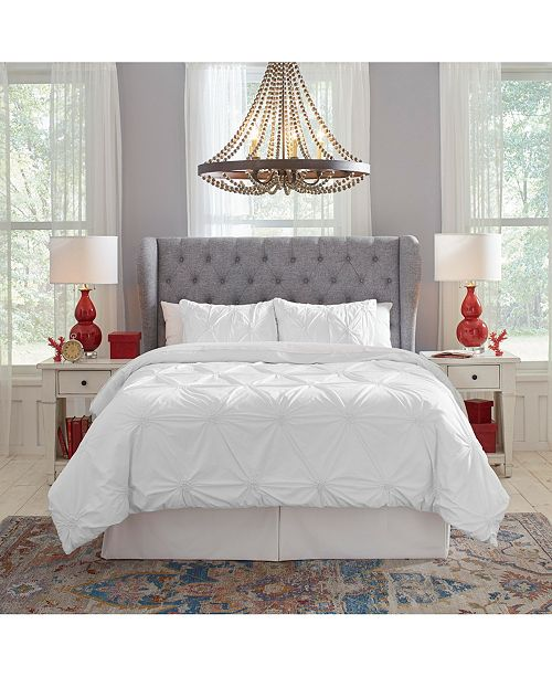 Pointehaven Knotted Pintuck Duvet Set Twin/Twin XL