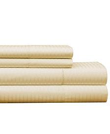 Pointehaven 450 Thread Count Dobby Cotton King Sheet Set
