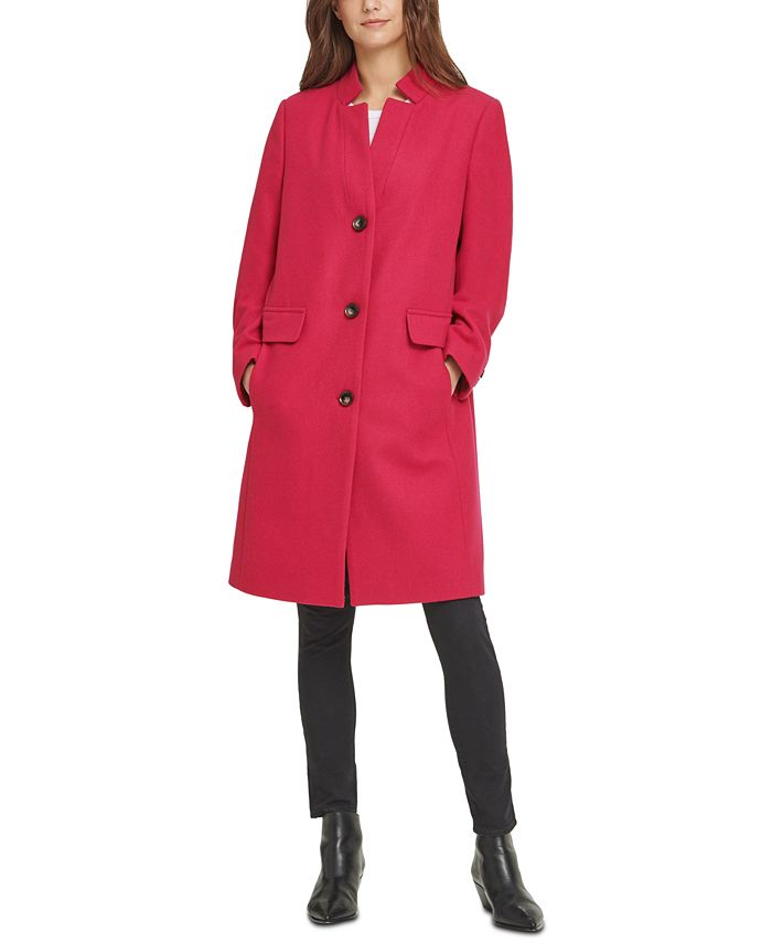 DKNY - Stand-Collar Reefer Coat