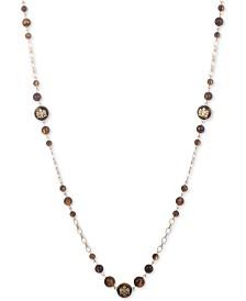"""Lauren Ralph Lauren Gold-Tone & Tortoise-Look Crest 42"""" Strand Necklace"""