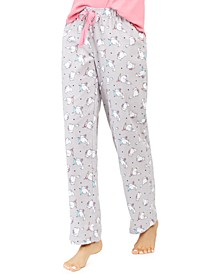 Cotton Printed Flannel Pajama Pants, Created For Macy's
